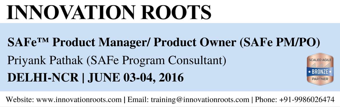 Book Online Tickets for SAFe Product Manager/Product Owner Certi, NewDelhi. Overview The Product Owner/ Product Manager Certification program is for executives, product managers, product owners, consultants, lean|agile leaders, and agile change agents. It consists of an overview of the Scaled Agile Framework ™, trainin