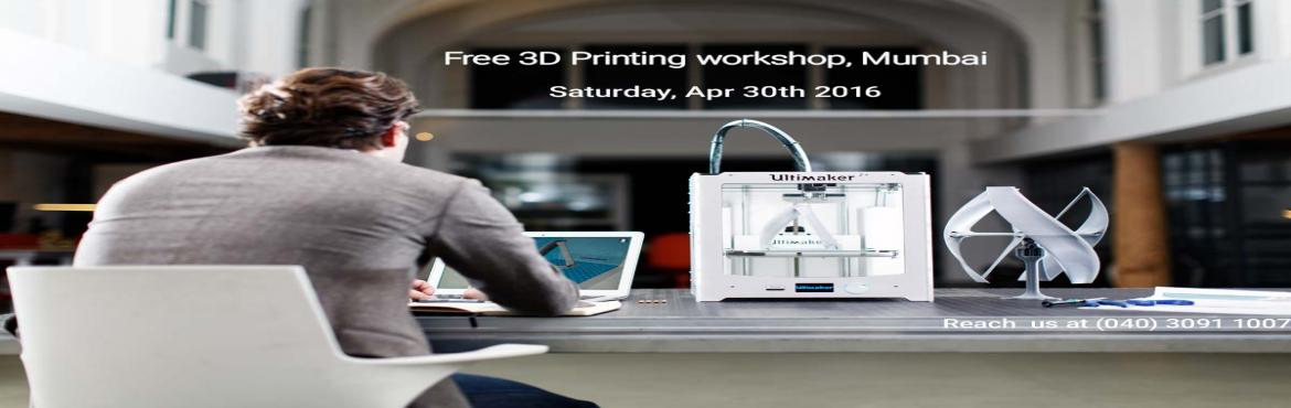 Book Online Tickets for Free 3D Printing Workshop, Mumbai , Mumbai. think3D is conducting a first of its kind 3D printing workshop in Mumbaion Apr 30th,2016. This workshop is intended for all those who are inquisitive of 3D printing technology. This session is intended to provide an overview on the techno
