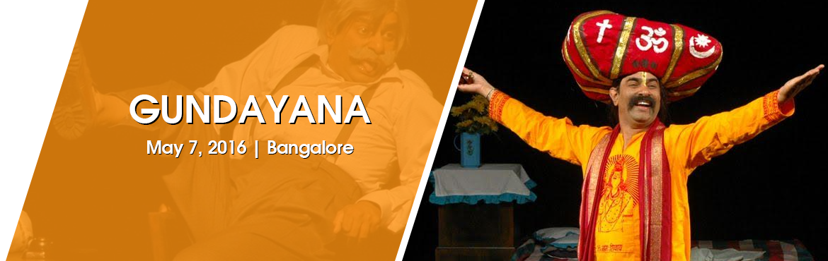 Book Online Tickets for Gundayana at Kea Rangamandira Bengaluru, Bengaluru. The play, based on a novel by Kannada humourist, Na.Kasturi, is designed and directed by Joseph, a Ninasam graduate known for his innovative productions. While Na.Kasturi's language, full of pun and wit, tickles your funny bones, the absur