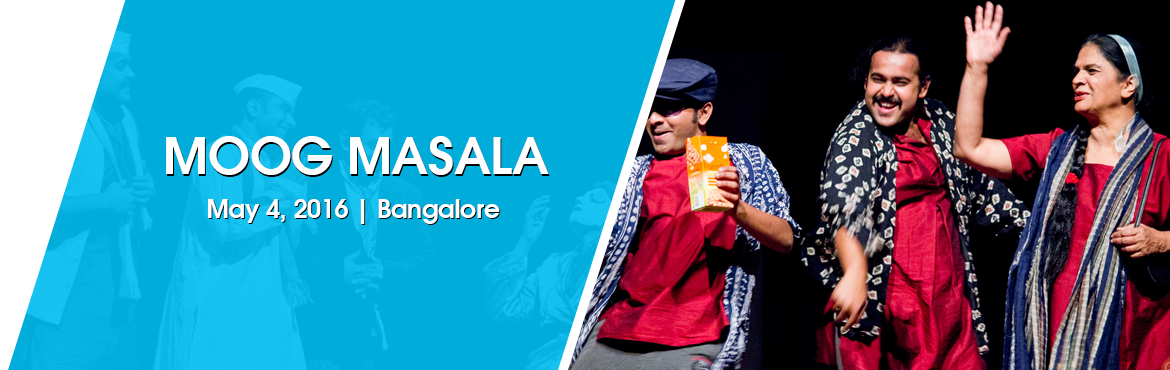Book Online Tickets for MOOG MASALA, Bengaluru. Kriyative Theatre, a group which believes in combining comedy with artistic excellence and social concern, has come up with yet another wholesome entertainer. Their brand new comedy, 'Moog Masala' is sure to have you rolling in splits of