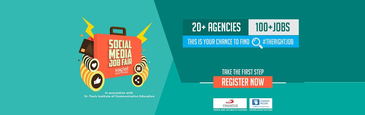 Book Online Tickets for Social Media Job Fair 2016., Mumbai. DETAILS  A career can make or un-make (because nothing is breakable) your life – and, it all boils down to one decision, to finding #TheRightJob. And to help you make that right choice; find your soul job, Social Samosa in association with St.