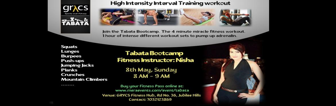 Book Online Tickets for GRYCS - Tabata Bootcamp with Nisha, Hyderabad. Tabata Fitness Bootcamp Instructor - Yoga & Fitness Expert Nisha Date: 8th May, Sunday. 8 AM - 9 AM at GRYCS Fitness Hub, Road No. 36, Jubilee Hills, Hyderabad. Contact: 7032123869 Details: Short workouts, Long-lasting results! Get the body you w