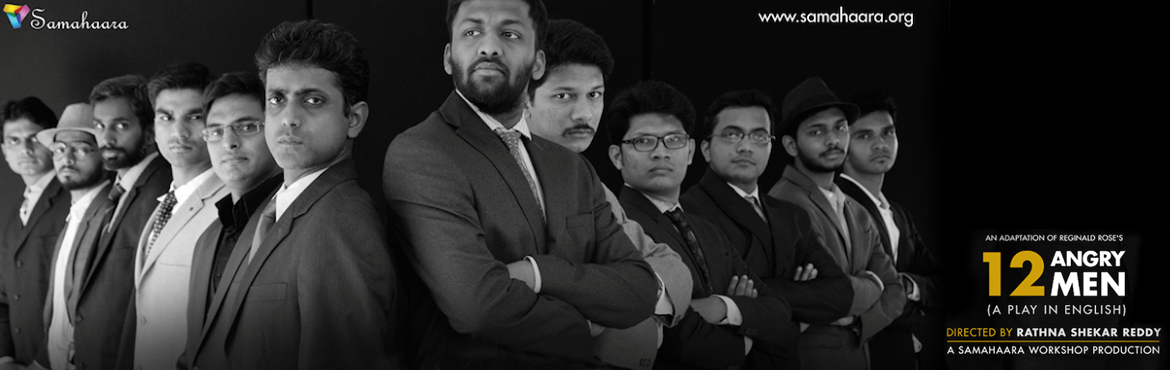 Book Online Tickets for 12 Angry Men (A Play in English), Hyderabad. A jury of 12 men is entrusted with the power to send an uneducated teenager to the electric chair for killing his father with a switchblade knife. They are locked into a jury room on a stifling hot summer day until they come up with a unanimous decis