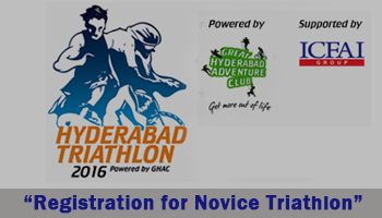 Hyderabad Triathlon 2016 - Registration for Novice Triathlon