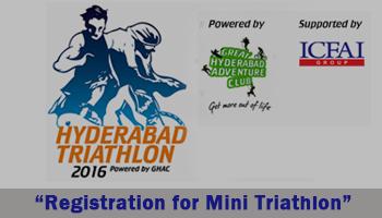 Hyderabad Triathlon 2016 - Registration for Mini Triathlon