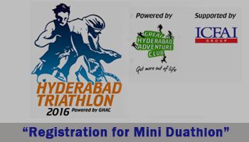 Hyderabad Triathlon 2016 - Registration for Mini Duathlon