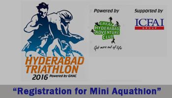 Hyderabad Triathlon 2016 - Registration for Mini Aquathlon