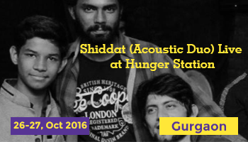 Shiddat (Acoustic Duo) Live  at Hunger Station