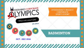 6th Hyderabad Corporate Olympics - Badminton