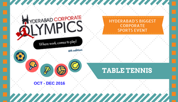 6th Hyderabad Corporate Olympics - Table Tennis