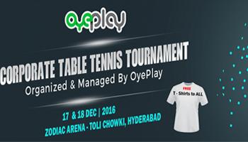 OyePlay Corporate Table Tennis Tournament
