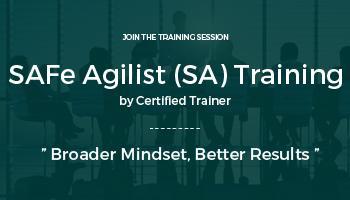 SAFe Agilist (SA) Training | Delhi Jan. 14-15