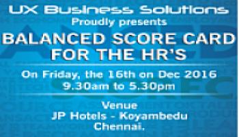 UX Business Solutions workshop on - Balanced Scorecard for HR