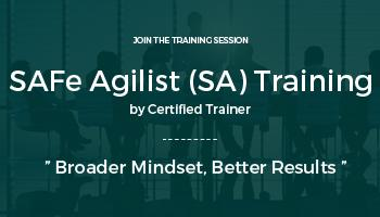 SAFe Agilist (SA) Training | Chennai Jan. 28-29