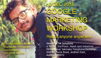 Digital Marketing using Google Workshop Mumbai
