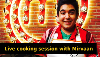 Live cooking session with Mirvaan Vinayak at Piali