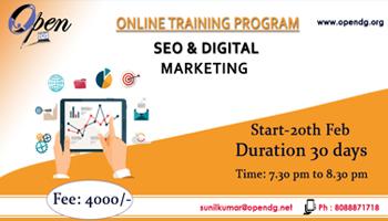Digital Marketing Online Training Program
