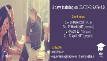 Leading SAFe 4.0 Training   08 - 09 Apr 2017   Gurgaon