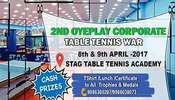 2nd CORPORATE TT WAR - Hyderabad