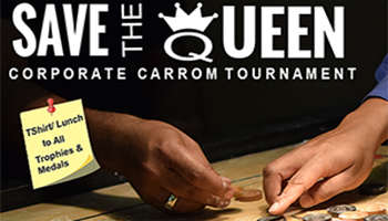 3RD Save The Queen OyePlay Corporate carrom tournament