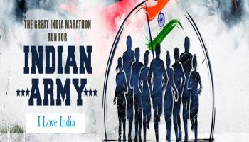 THE GREAT INDIA MARATHON - Run for Indian Army - Hyderabad