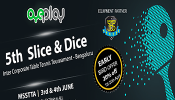 5th OyePlay Slice and Dice corporate Table Tennis Tournament