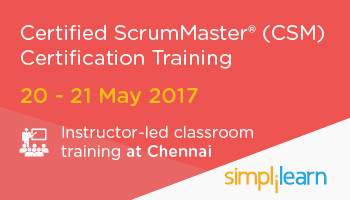 CSM Certification Training in Chennai| Classroom Training Program