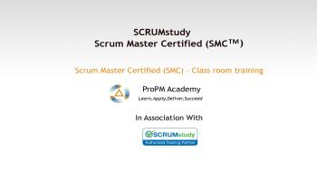 Scrum Master Certified (SMC ) - Class room training