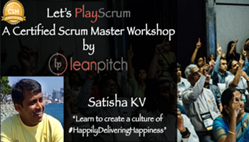 Certified Scrum Master Workshop in Chennai on Aug 12-13