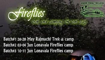 Fireflies Trek Tent stay and camping at Rajmachi at 27-28 May by NisargPremiTrekkers