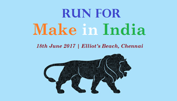Run For Make In India Marathon - Elliots Beach