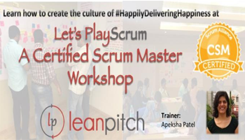 Certified Scrum Master Training in Ahmadabad on Aug 12-13