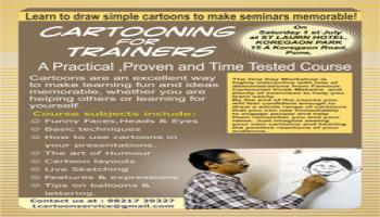 one day cartooning workshop at Pune