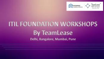 ITIL Foundation Workshop @Pune