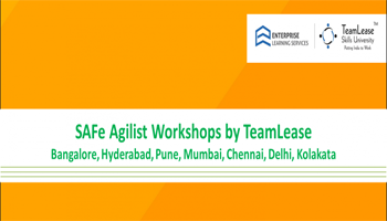 Leading SAFe Agilist Workshop @ Hyderabad