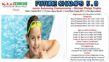 MICHAEL PHELPS TROPHY - INTER SCHOOL  SWIMMING COMPETITION