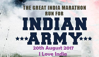 The Great Indian Marathon - Run for Indian Army