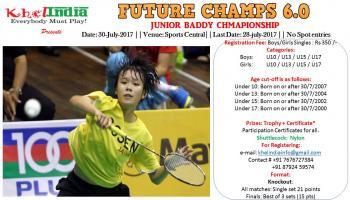 FUTURE CHAMPS 6.0 - Junior Badminton Tournament on 30th July