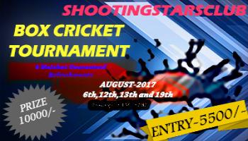 SHOOTINGSTARSCLUB BOX CRICKET TOURNMENT