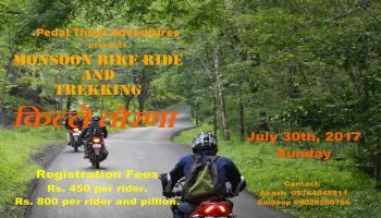 Monsoon Bike Ride and Trekking Torna