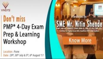 Join International Instructor Mr. Nitin Shende At 4-Day PMP Workshop