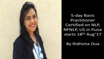 5-day Basic Practitioner Certified NLP Program by Ridhima Dua in Pune