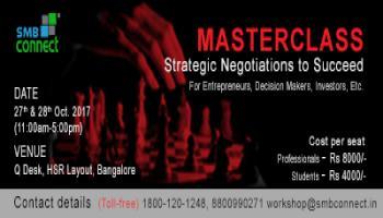 Strategic Negotiations to Succeed - MasterClass