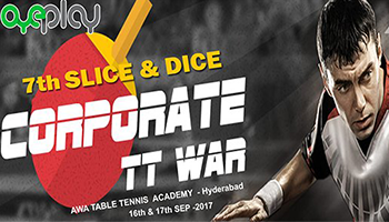 7th Slice and Dice Corporate Table Tennis Tournament