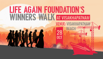 Life Again Foundation Winners walk - Vishakapatnam