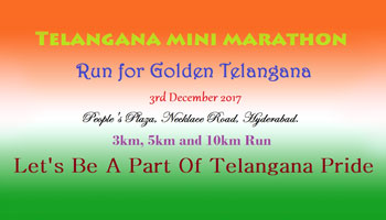 Telangana Mini Marathon - Run For Golden Telangana