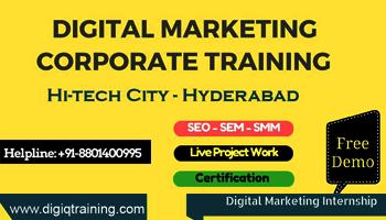 Digital Marketing Training Program And Internship Hitech City - Madhapur - DigiQ Training