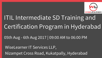 ITIL Intermediate SD Training and Certification in Hyderabad
