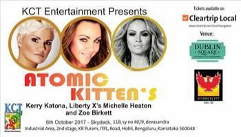 Atomic Kittens Kerry Katona x Liberty Xs Michelle Heaton x Zoe Birkett India tour 2017 Bangalore
