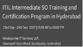 ITIL Intermediate SO Training and Certification in Hyderabad with best tutor